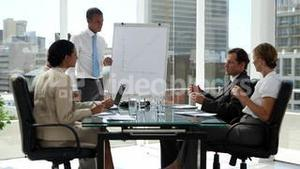 Business people discussing the presentation