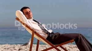 Businessman sleeping