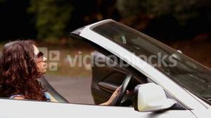 Couple in a car breakdown