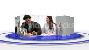 Multiple screens of business situations