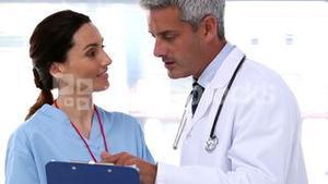 Doctors discussing together