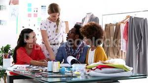 Young fashion designers working together