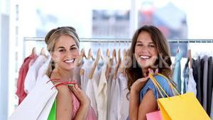 Women doing shopping together