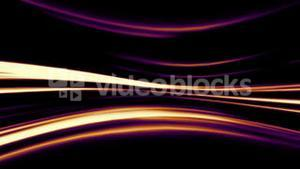 Abstract orange and purple lines on black background