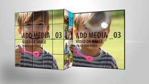 Media Cube with Media panels AE Version 5
