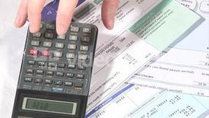 Stock Footage Home Finances