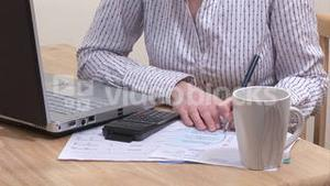 Stock Footage of Woman Working at Home