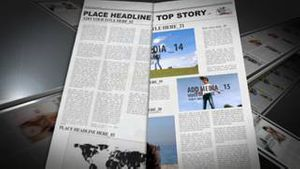 Editable News Paper with printing press AE Version 5