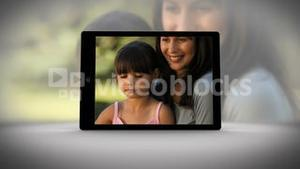 Video if tablet showing family