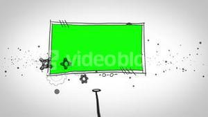 Two green screen popping up