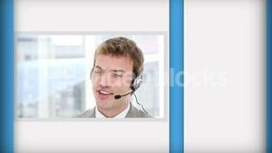 Short clips of call center employees