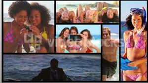 Short clips about people on the beach