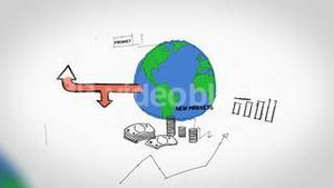 Animation on business growth and development