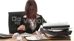 Stock Footage of a Frustrated Woman