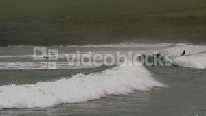 Powerful waves in the sea