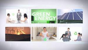Environmentalism montage at home and in business
