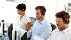 Call center colleagues at work