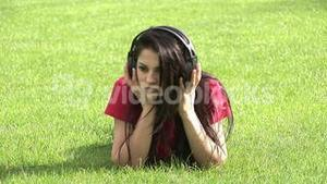 Stock Video Woman Listening to Music