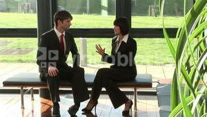 Two Businesspeople in Discussion