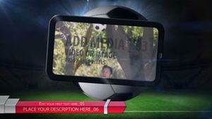 Soccer ball with media - AE Version 5