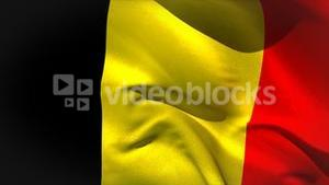 Digitally generated belgium flag waving