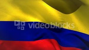 Digitally generated colombia flag waving