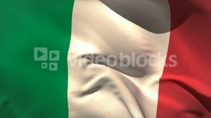 Digitally generated italy flag waving