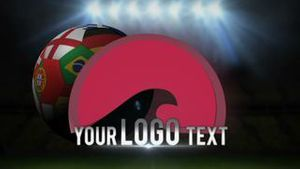 Soccer ball with digital text and logo reveal - AE Version 5