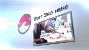 3d Curved Media With Text - AE Version 5