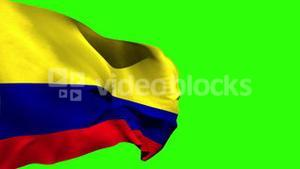 Large colombia national flag blowing