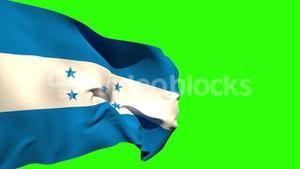 Large honduras national flag blowing