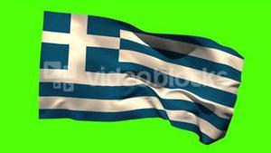 Greece national flag blowing in the breeze