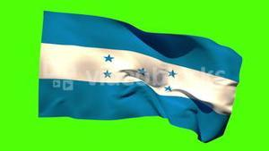 Honduras national flag blowing in the breeze