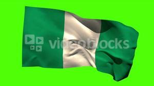 Nigeria national flag blowing in the breeze