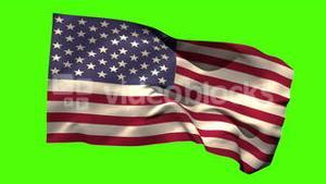USA national flag blowing in the breeze