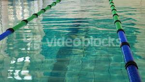 Swimming pool with lane markers