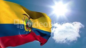 Ecuador national flag waving