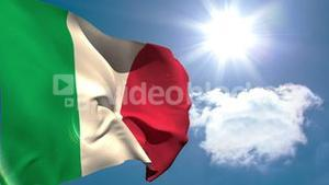 Italy national flag waving