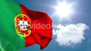 Portugal national flag waving