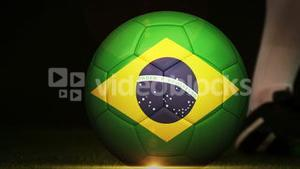 Football montage advertisement for brazil