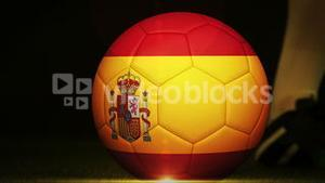 Football montage advertisement for spain