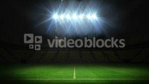 Lights flashing over football pitch