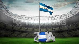Honduras national flag in football stadium