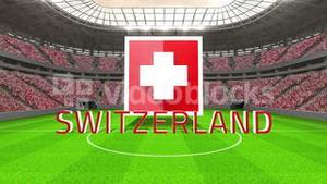 Switzerland world cup message with badge and text
