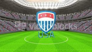 United States world cup message with badge and text