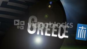 Greece world cup 2014 animation with football