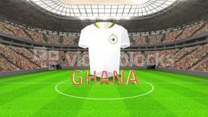 Ghana world cup message with jersey and text