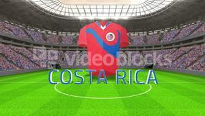 Costa rica world cup message with jersey and text