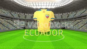 Ecuador world cup message with jersey and text