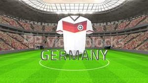 Germany world cup message with jersey and text